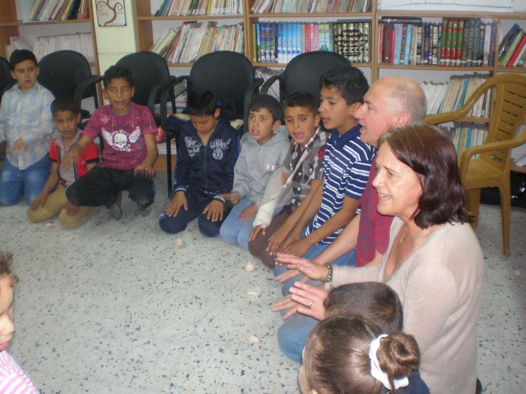 Workshop im Flüchtlingslager