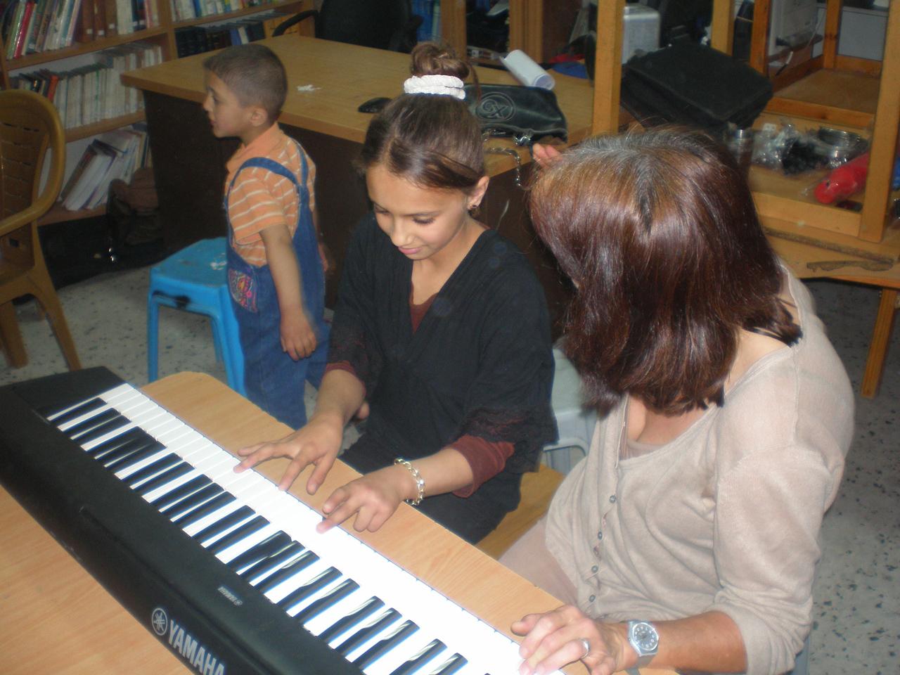 Workshop im Flüchtingslager