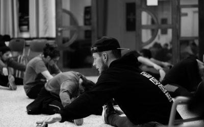 Workshop von Maxi im Flüchtlingslager