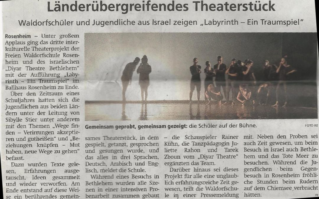 "Article about our theater piece ""labyrinth"" (in german only)"